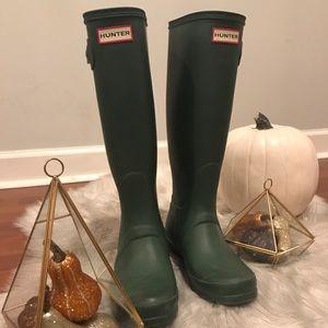 Hunter Boots Original Tall Green